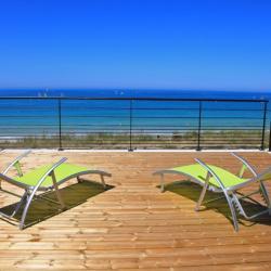 Vue panoramique sur la plage de Porsmeur à Plouescat