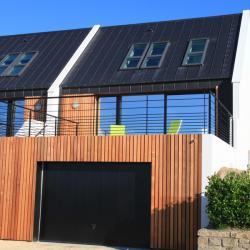 Villa d'architecte de 2014 en red cedar et zinc